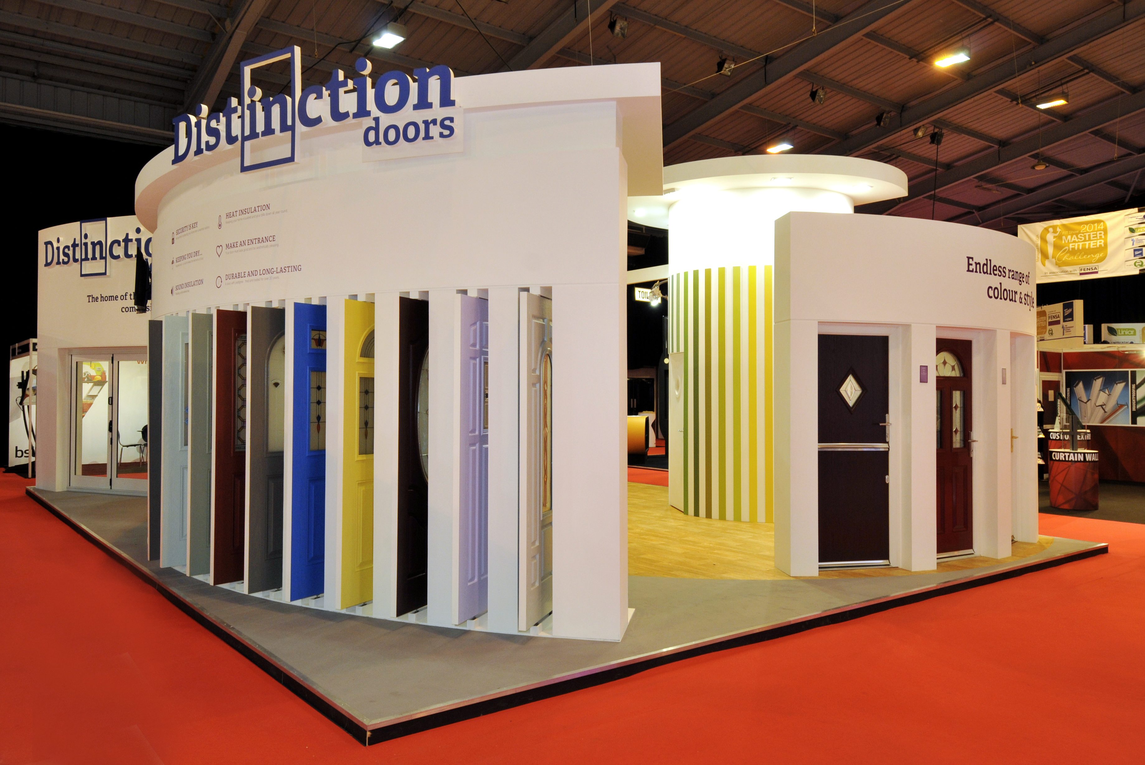 Exhibition Stand Design Tips : Distinction doors quantum exhibitions and displays
