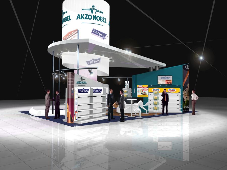 Custom Exhibition Stand Uk : Akzo nobel