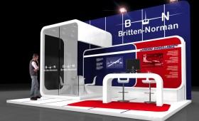 Custom Exhibition Stand design - Britten Norman