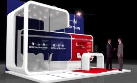 Custom Exhibition Stand design  - Britten Norman