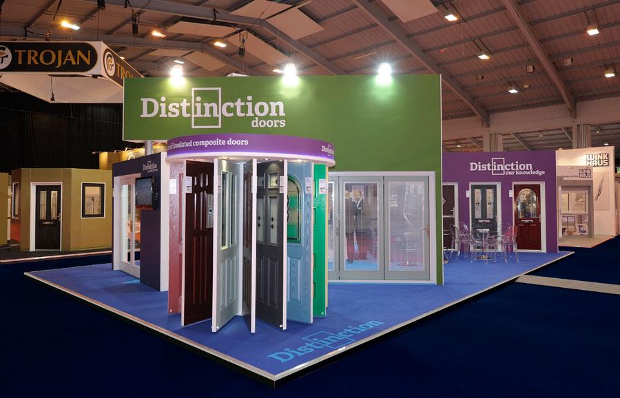 Exhibition Stand Work : Distinction doors quantum exhibitions and displays