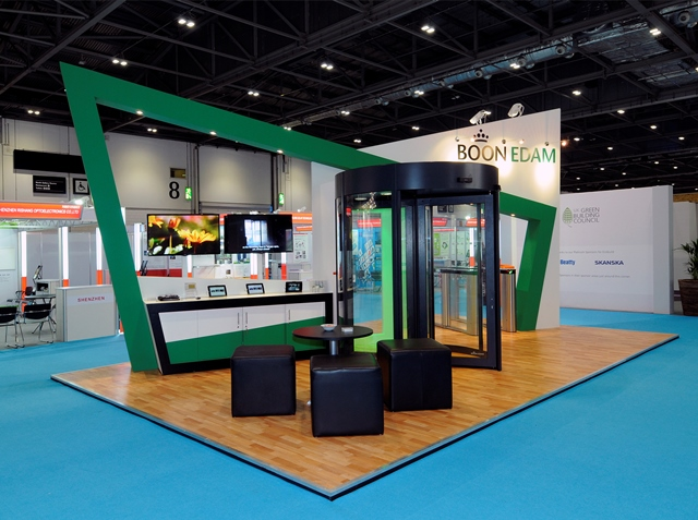 Exhibition Stand Installation : Quantum exhibitions install boon edam stand at ecobuild