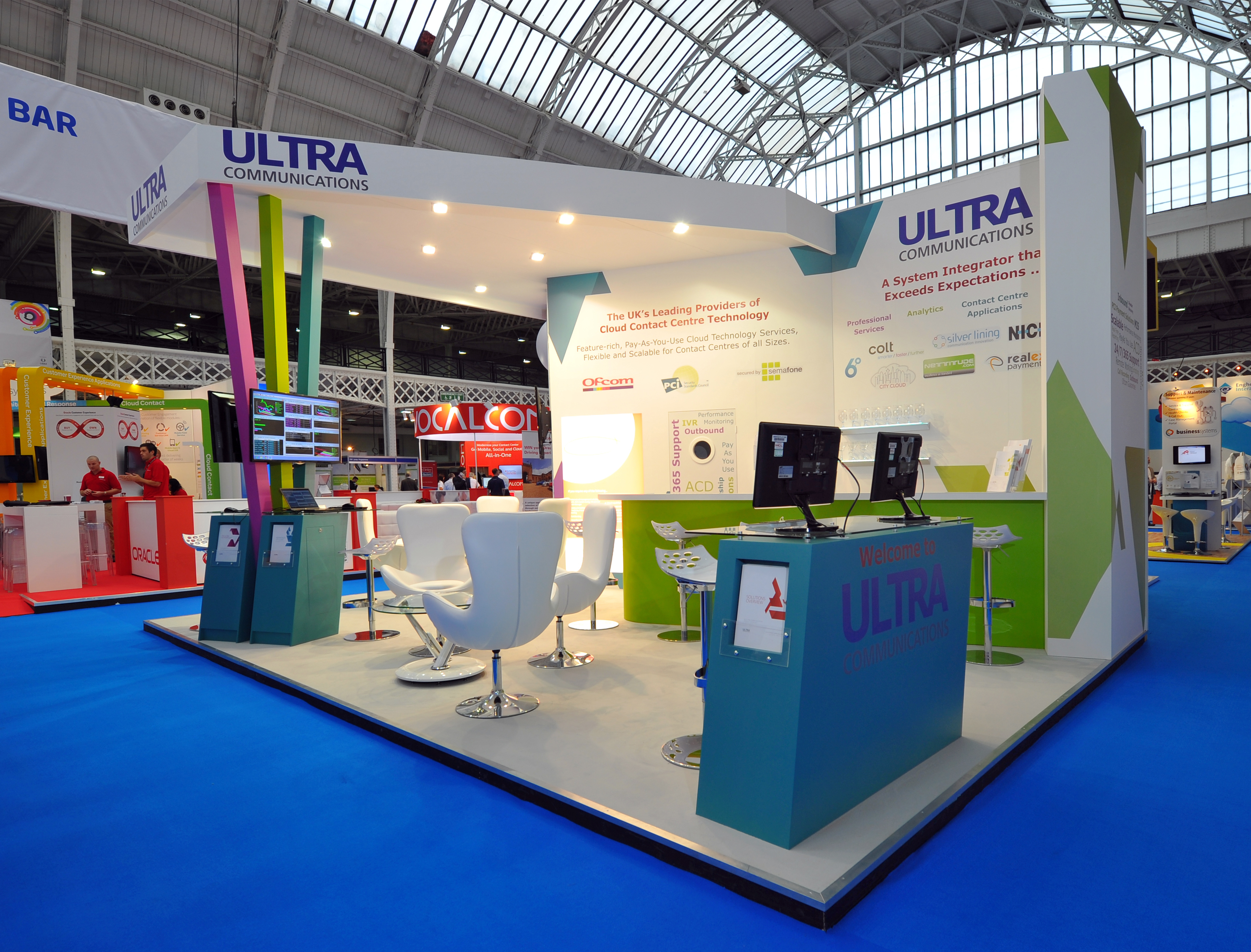 Exhibition Stand Builders Yorkshire : Ultra communications