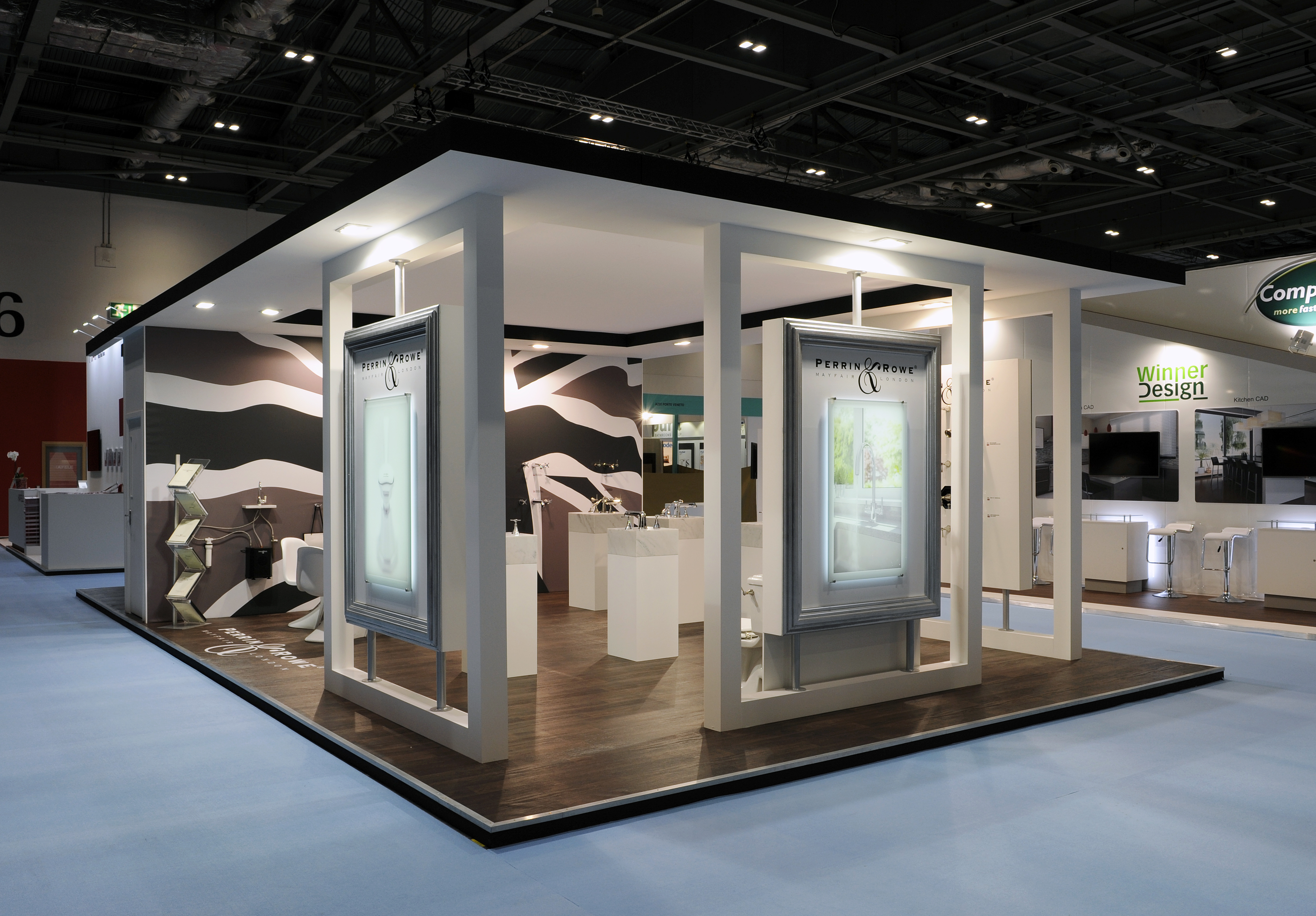 Exhibition Stand Build : Perrin and rowe quantum exhibitions