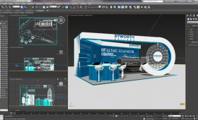 3D trade booth