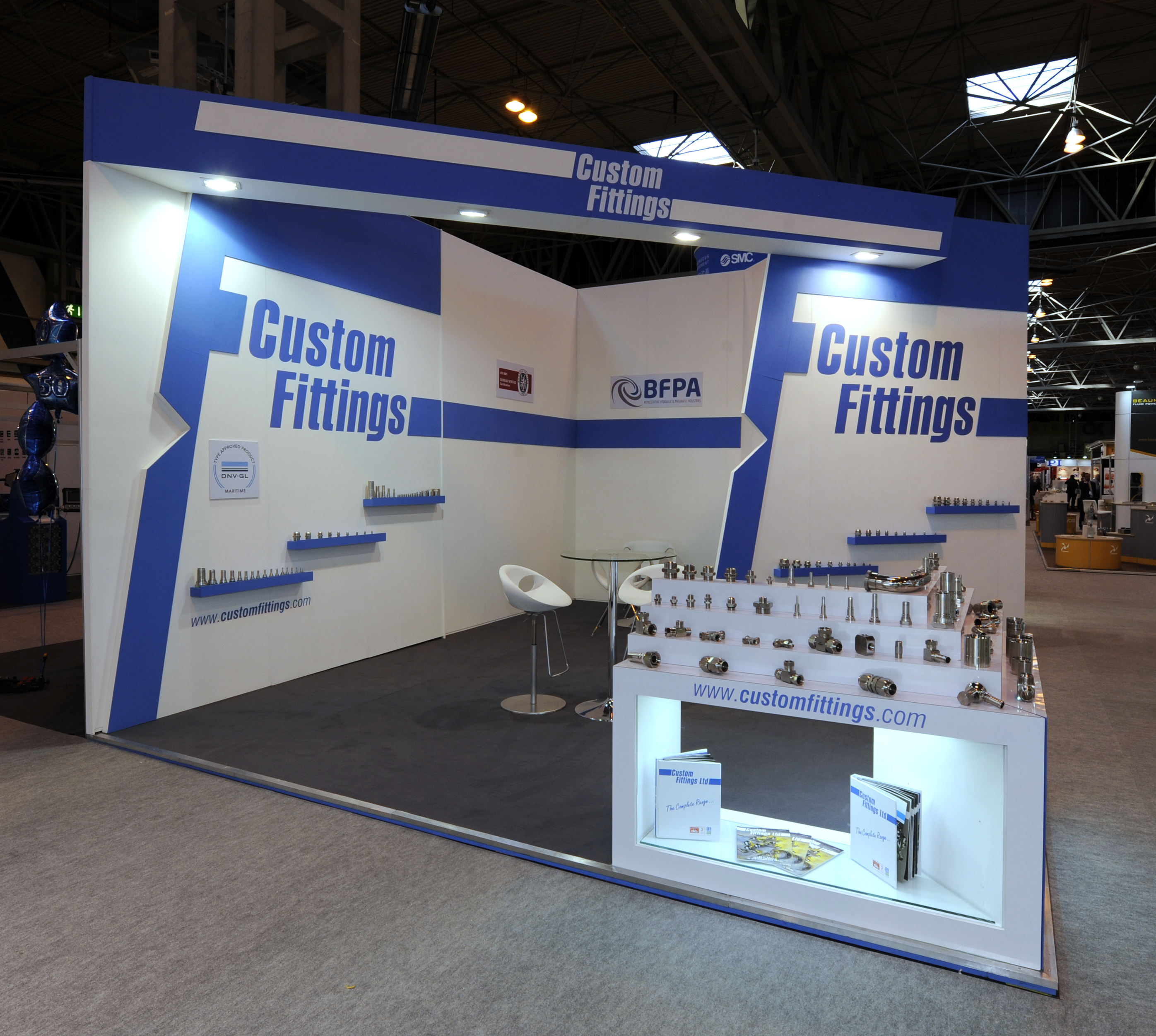 Exhibition Stand Builders Yorkshire : Custom fittings