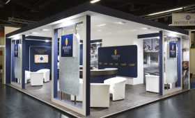 Bespoke exhibition stand for Simspons Malt